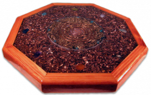 Plaque ou plateau d'orgonite